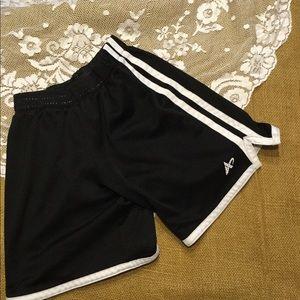 Boys black athletic shorts